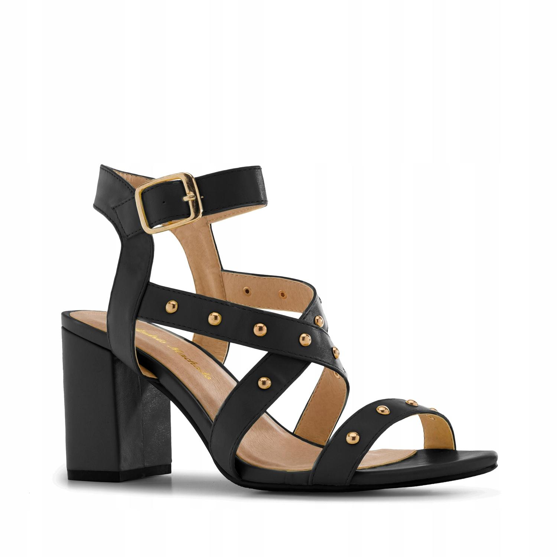 Sandały Ćwieki Soft Czarne 33