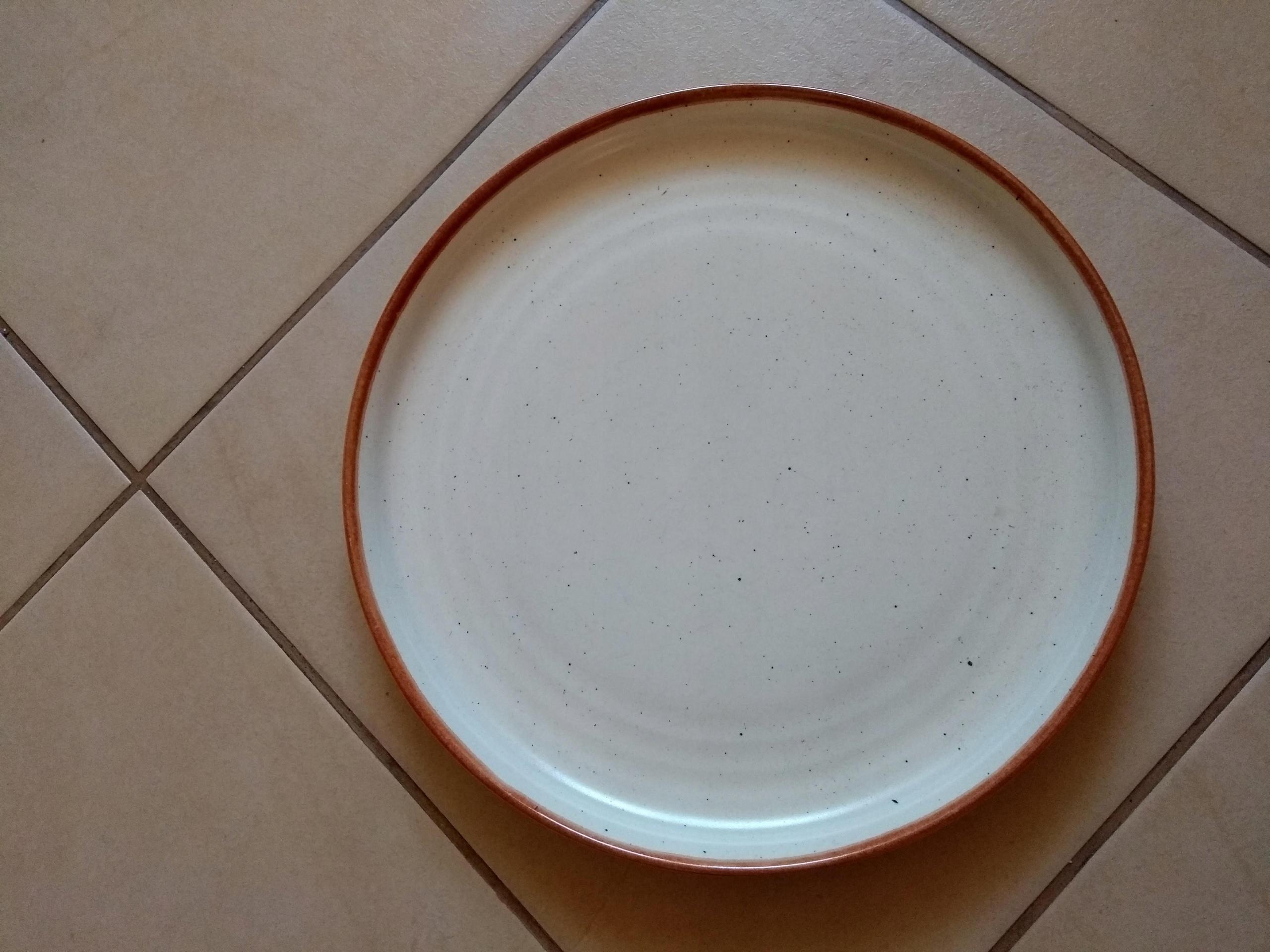 Ariane Talerz Płaski Porcelana Piaskowy 275 mm 12s