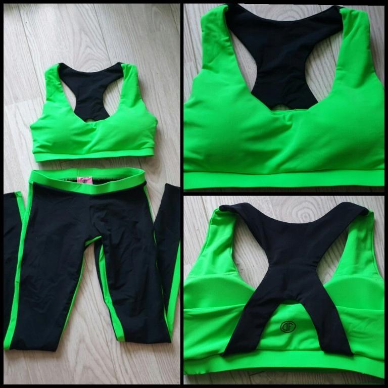 Komplet strój siłownie Designet for fitness leggi