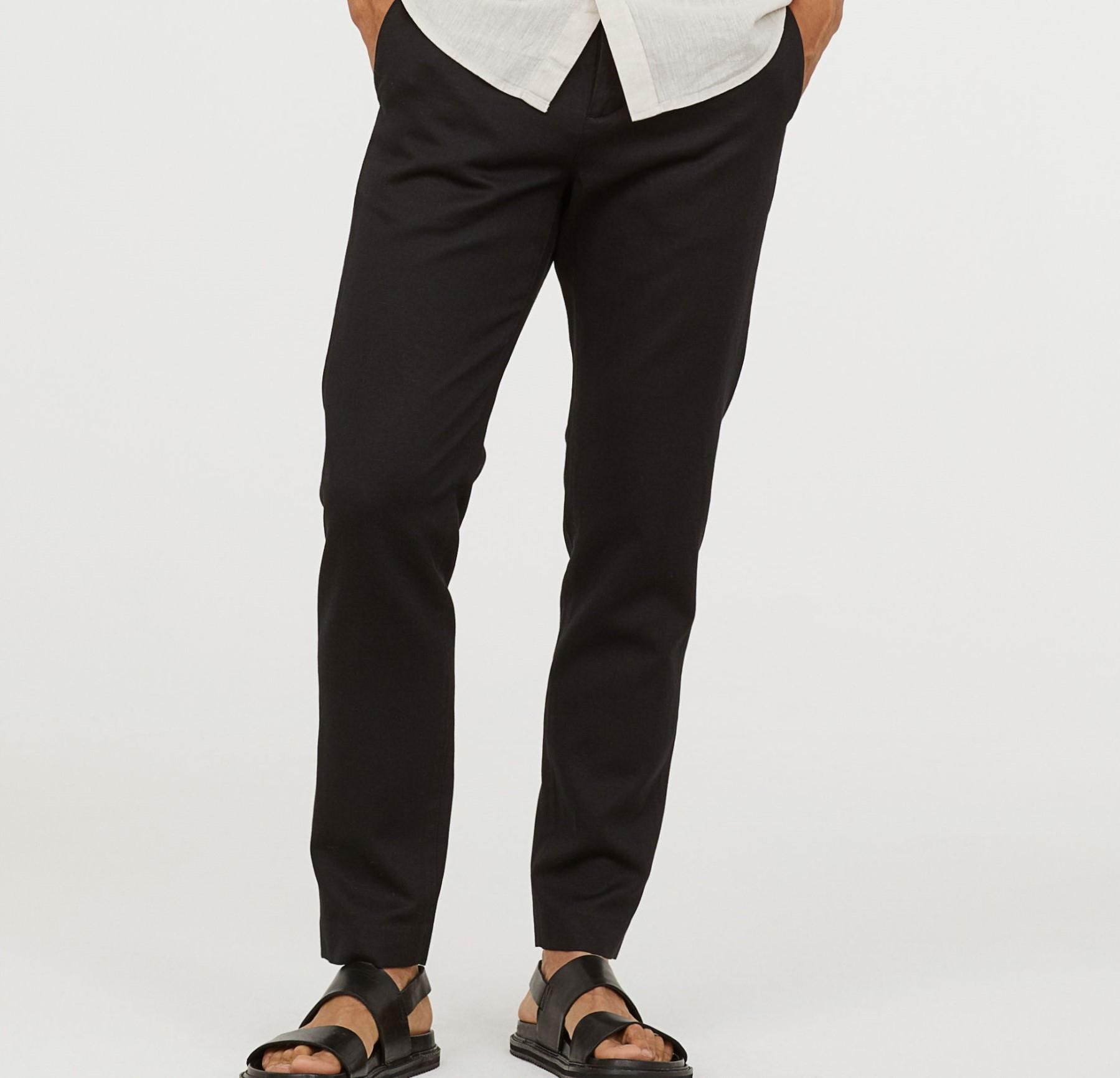 H&M RELAXED spodnie chino duże W30 REG M