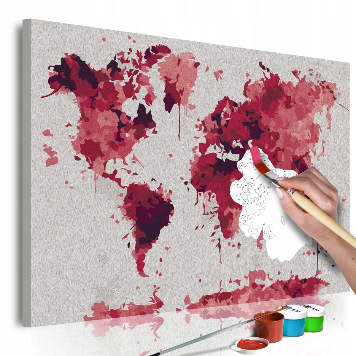 Obraz do samodzielnego malowania - Akwarelowa mapa