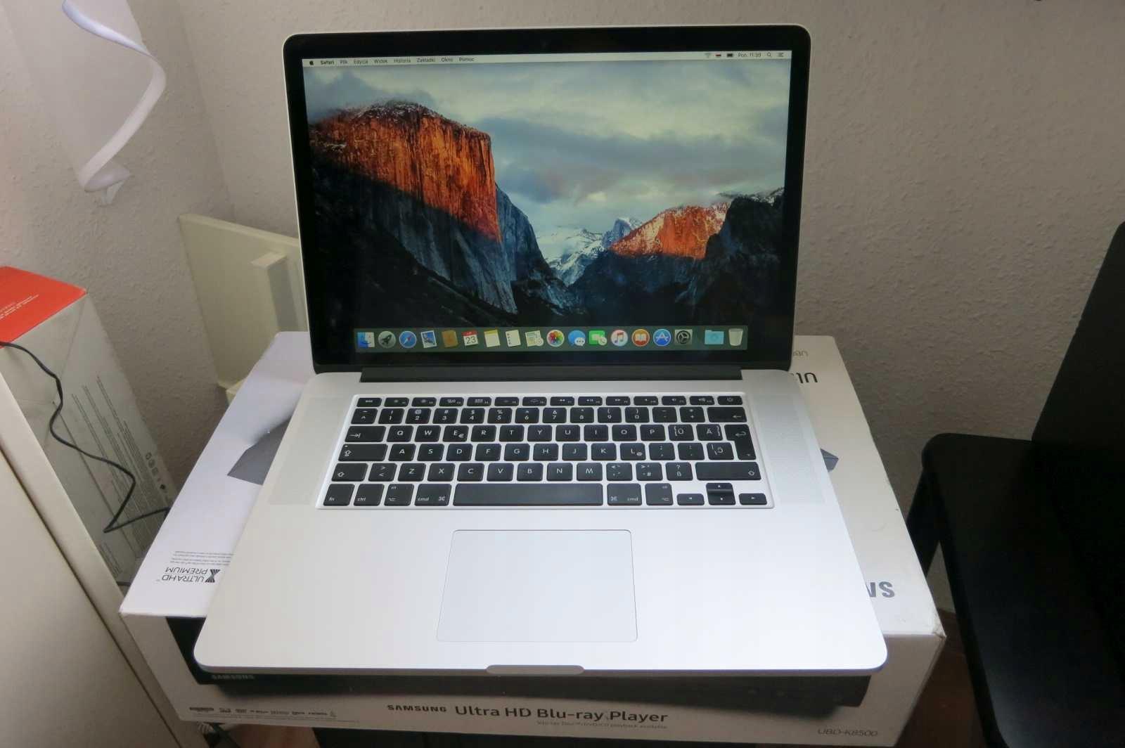 "MAC 15,6"" Retina-i7 2,4GHz, 8GB ram,256GB ssD"