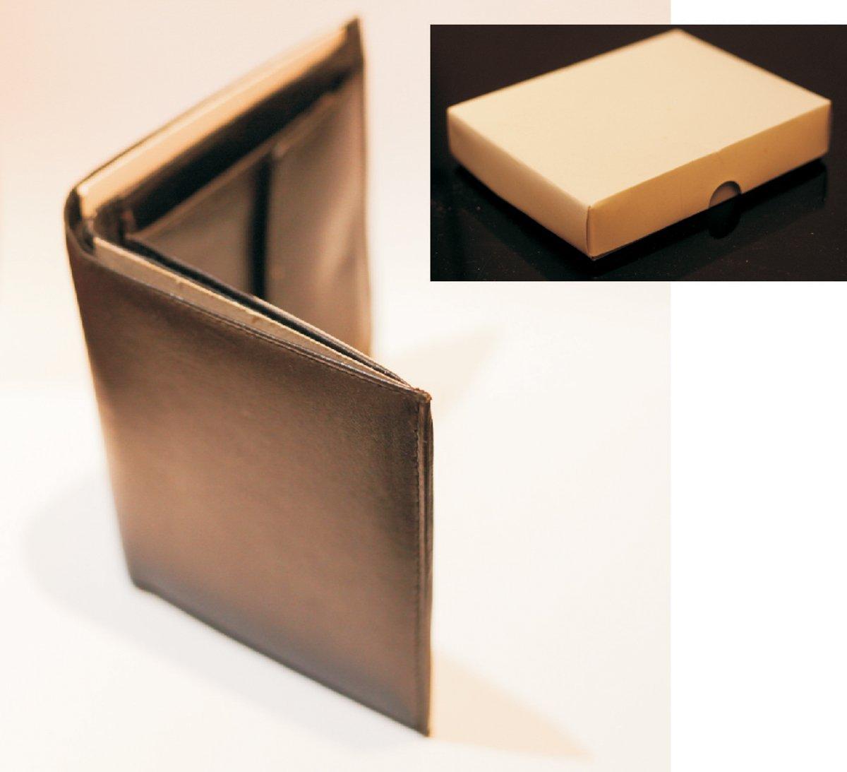 Nowy czarny męski portfel ze skóry