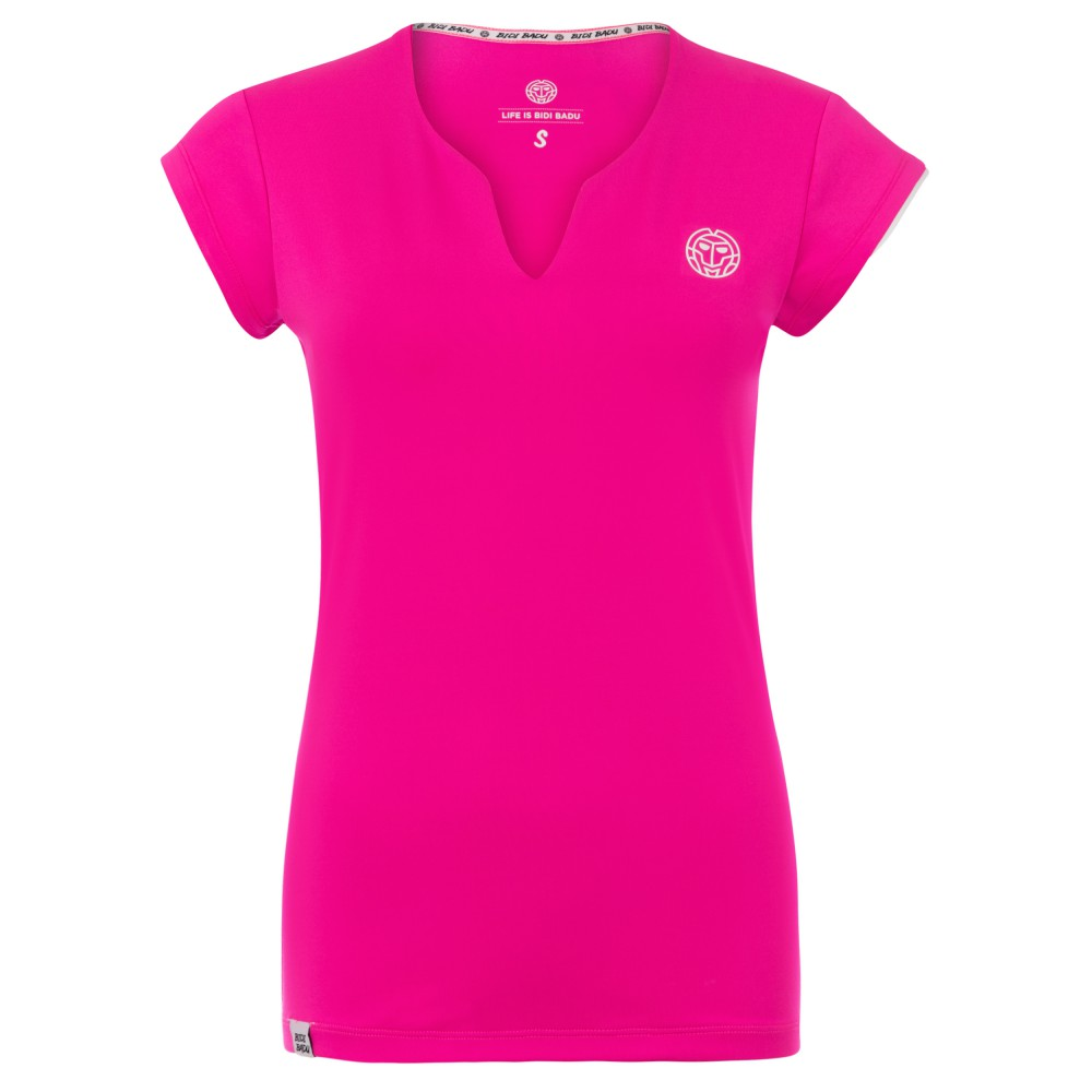 Koszulka tenisowa Bidi Badu Bella różowa XS