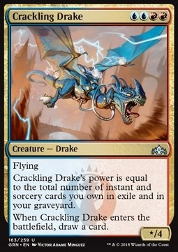 MTG Crackling Drake (Guilds of Ravnica)