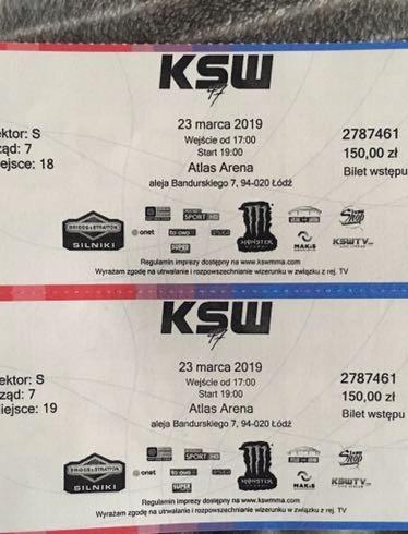 Bilety KSW47 Łódź 23.03.2019