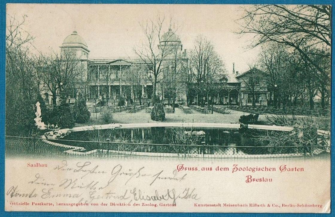 Wrocław. Breslau. ZOO. Sala Koncertowa. 1900 rok