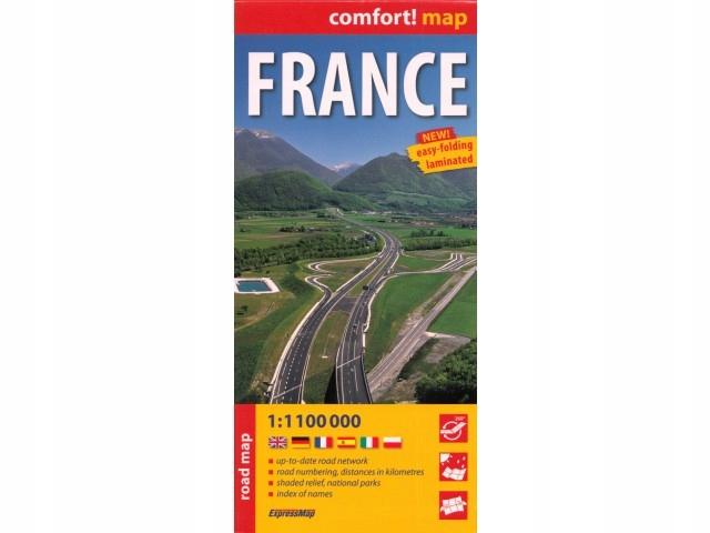 Expressmap France 1:1 000 000 mapa samochodowa