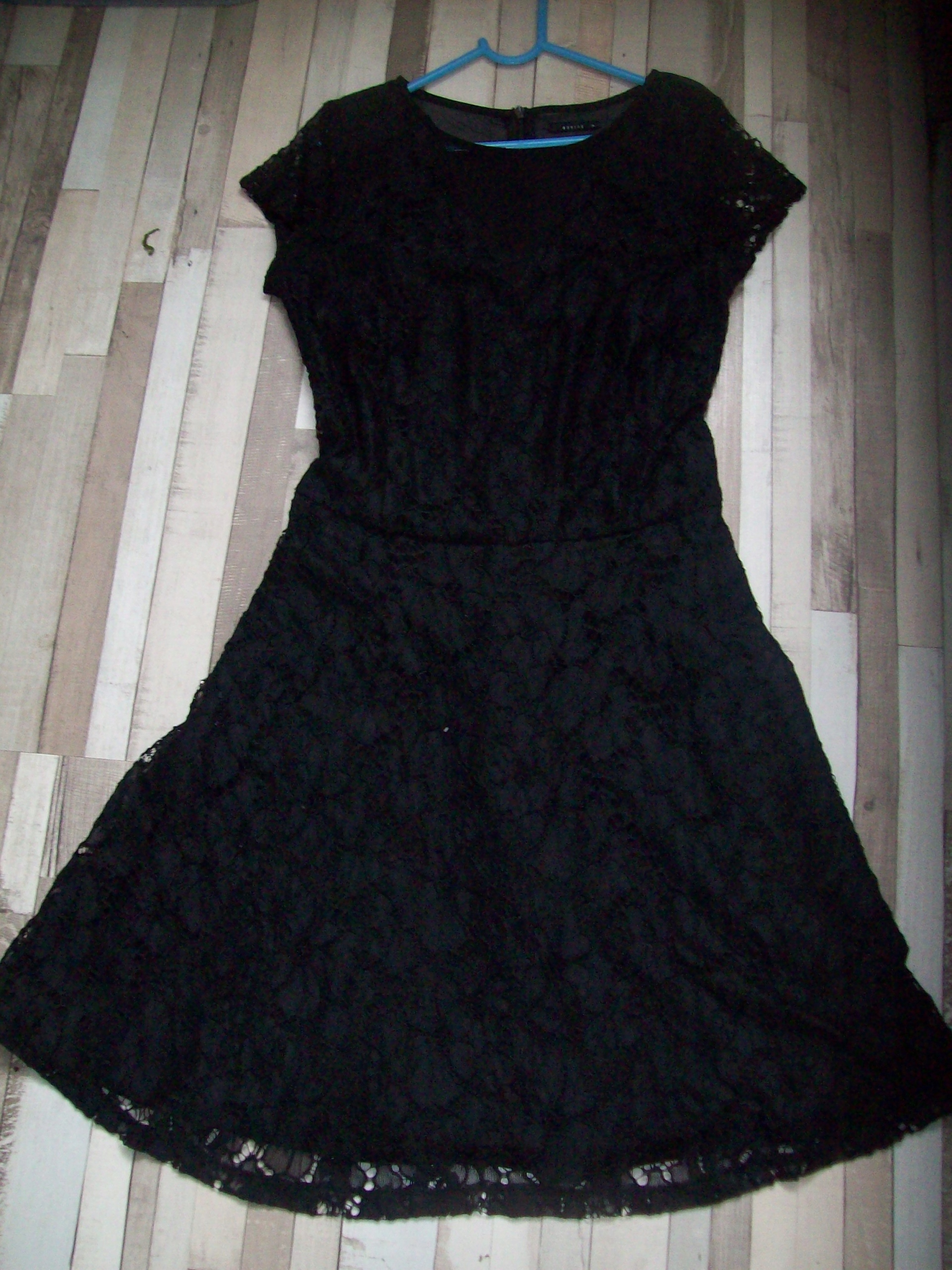 Mohito sukienka czarna koronka wstawka XS bdb