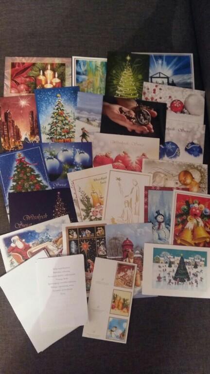 Kartki Boże Narodzenie 50 sztuk różne Święta 2018