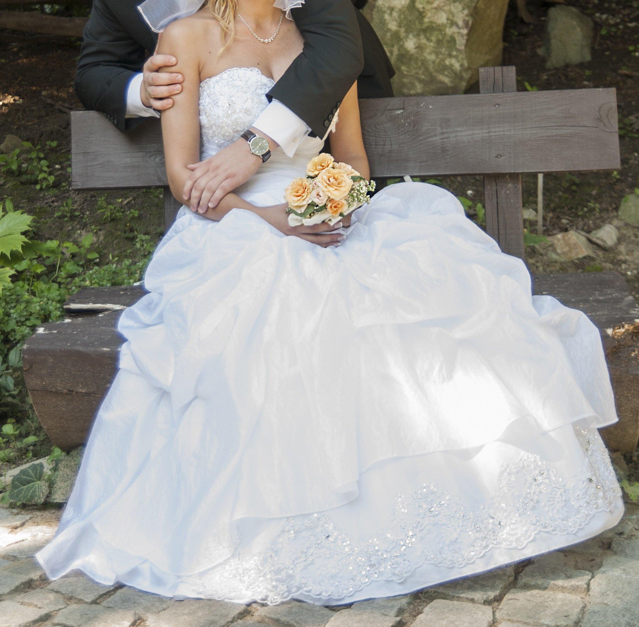Suknia ślubna Biała Roz 38 40 6691497895 Oficjalne Archiwum Allegro