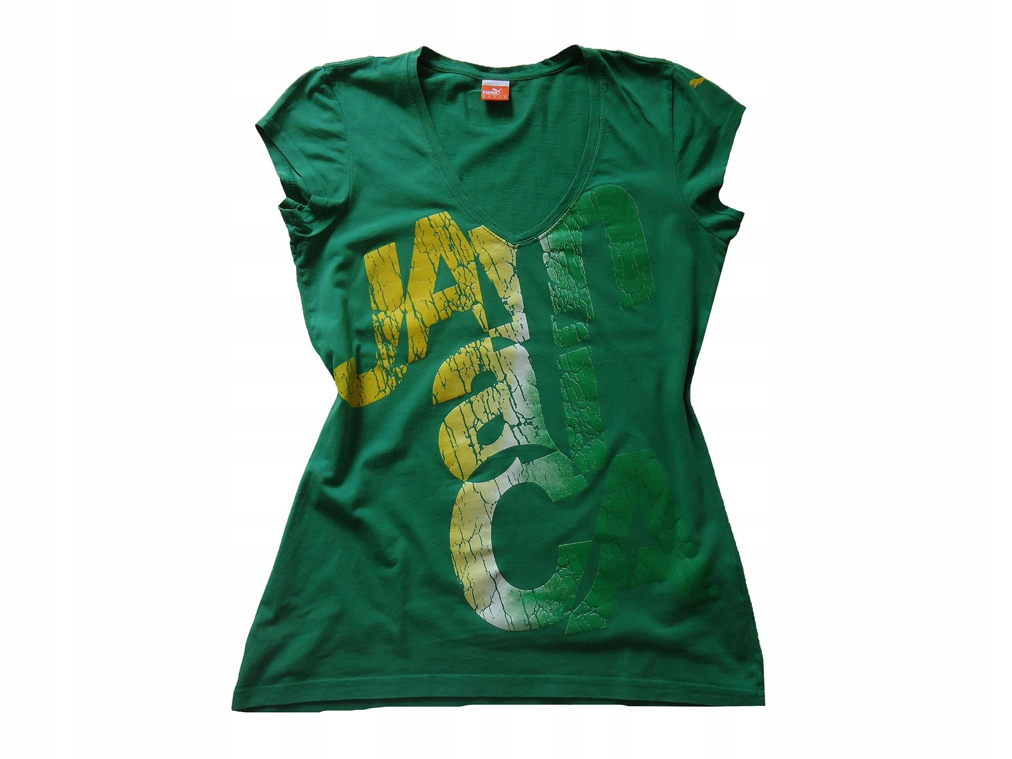 PUMA zielony bawełniany t-shirt 40 JAMAICA