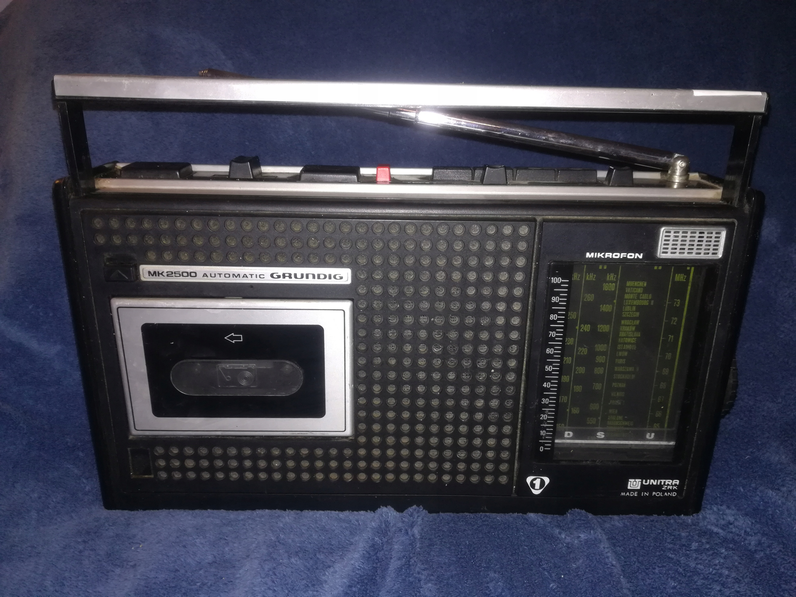(1) Radiomagnetofon Grundig Unitra ZRK MK2500