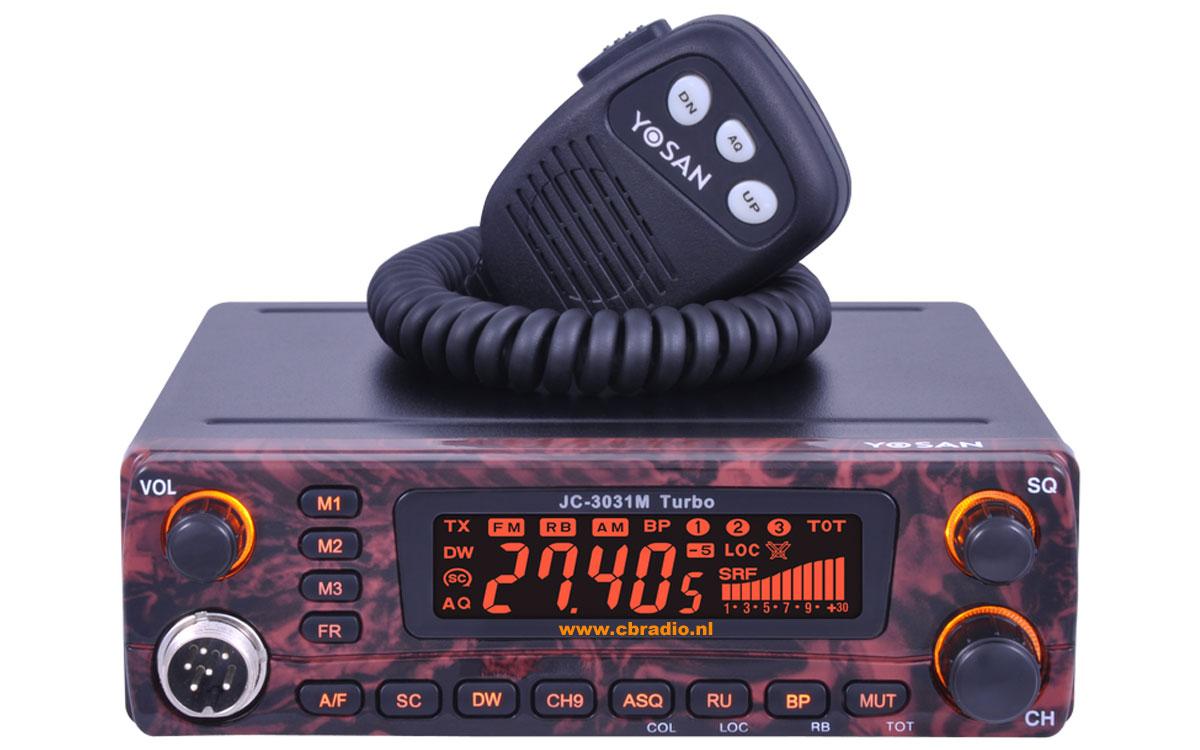 Radio CB Yosan JM3031M TURBO imitacja drewna wtyk