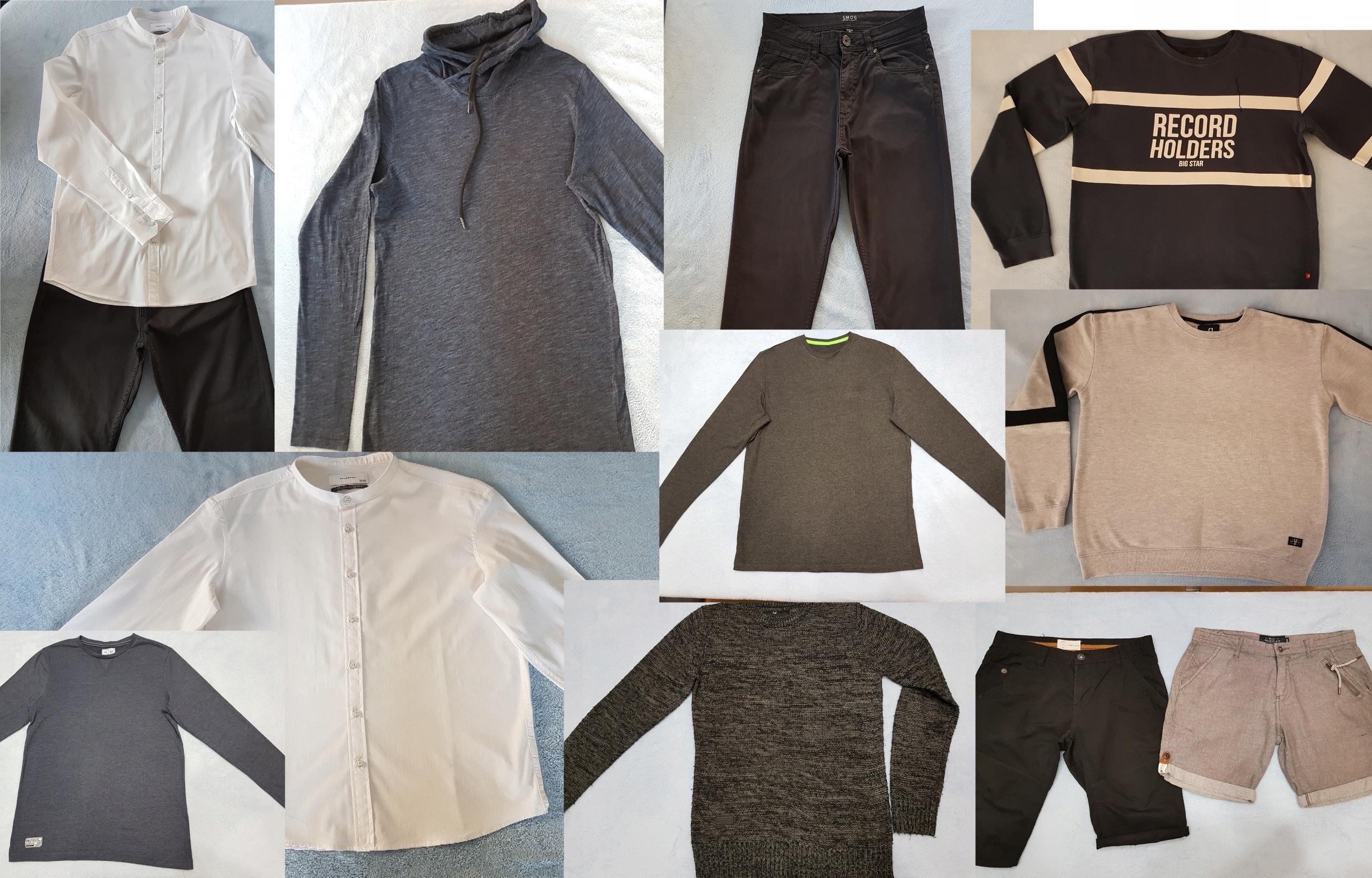 Zestaw ubrań męskich młodzieżowych rozmiar M