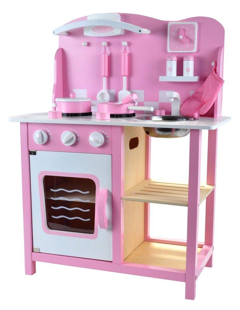 Kuchnia Drewniana Różowa Akcesoria 7159802601