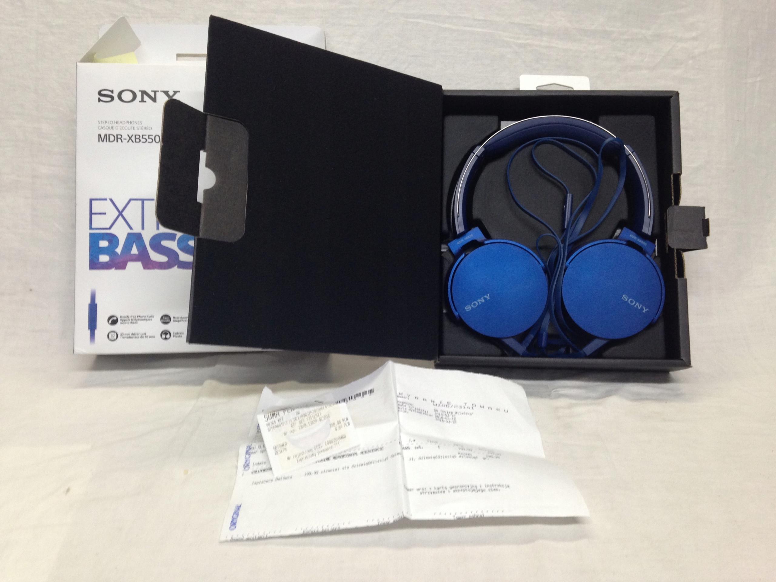 SONY MDR XB550AP prawie nowe, gwarancja 7527378943