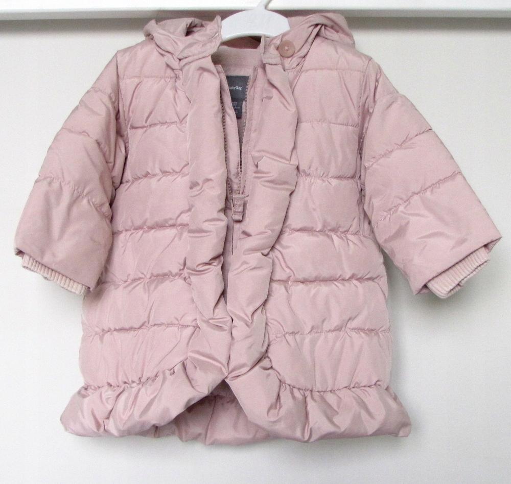GAP puchowy różowy płaszczyk 12-18 mcy