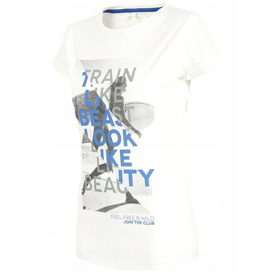 T-Shirt 4F H4L18-TSD015 10S XS biały