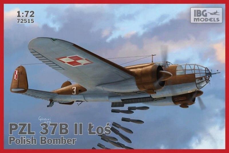 Model PZL.37B II LOS polski średni bombowiec