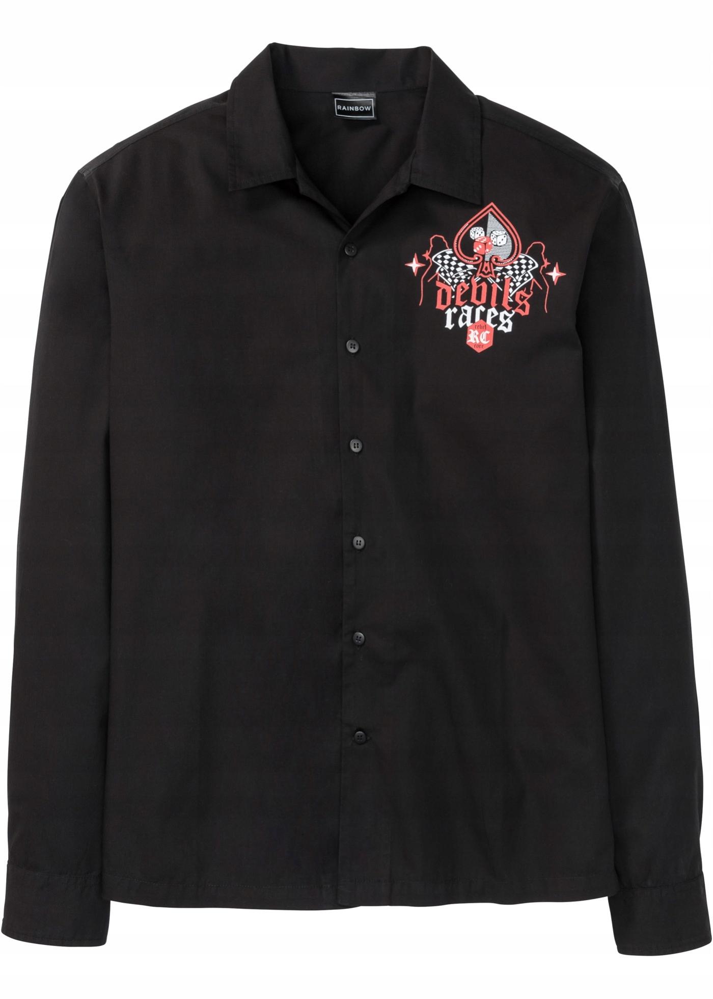 B226 BPC Koszula z nadrukiem, długi rękaw r.47/48