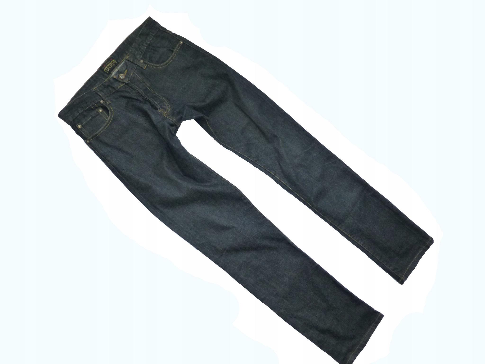 ZARA DENIM czarne jeansy rozmiar M 38 uk 30