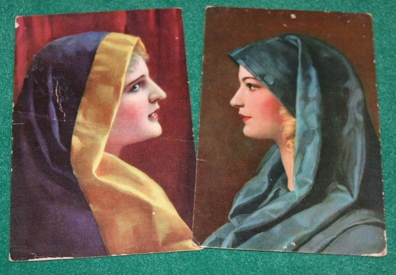 W. Hunger - Anita i Helga - przedwojenne pocztówki