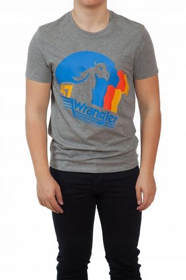T-SHIRT MĘSKI WRANGLER HORSE W7B72FKVB R. M