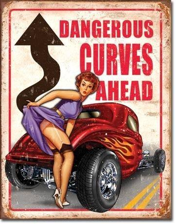 Metalowy Plakat Usa Niebezpieczne Zakręty Prezent
