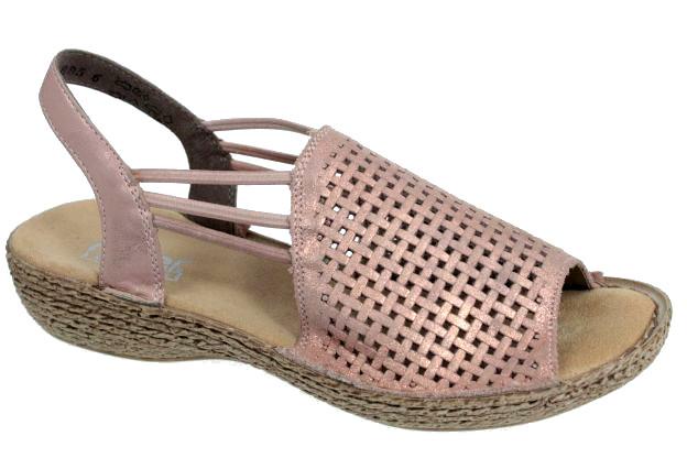 Rieker Sandały Skórzane 46387 Art-shoes 37