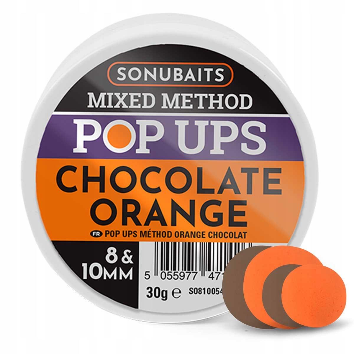 Sonubaits Mixed Method Pop Ups Chocolate Orange