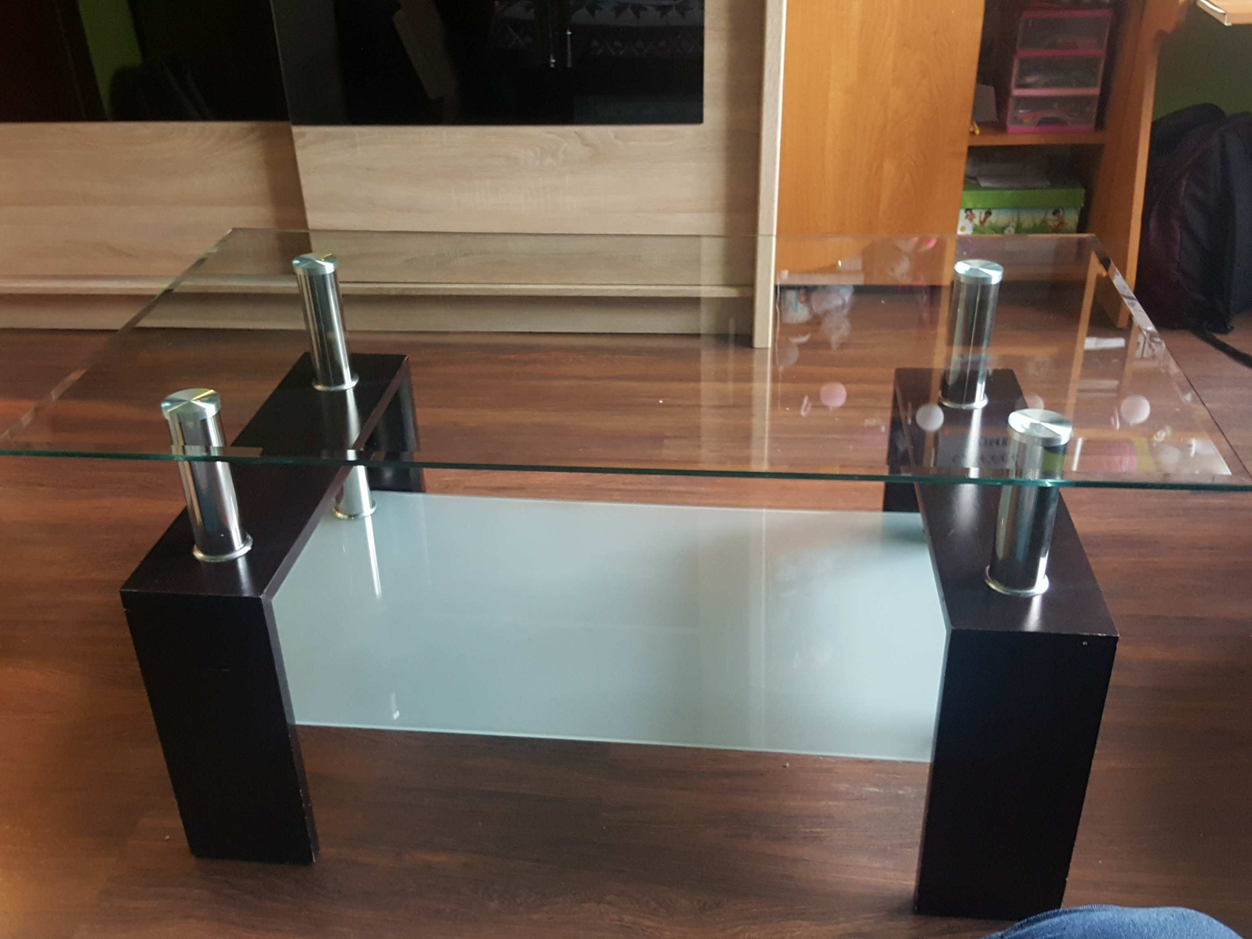 Stolik Szklany Kawowy ława 110x60x45 Agata Meble