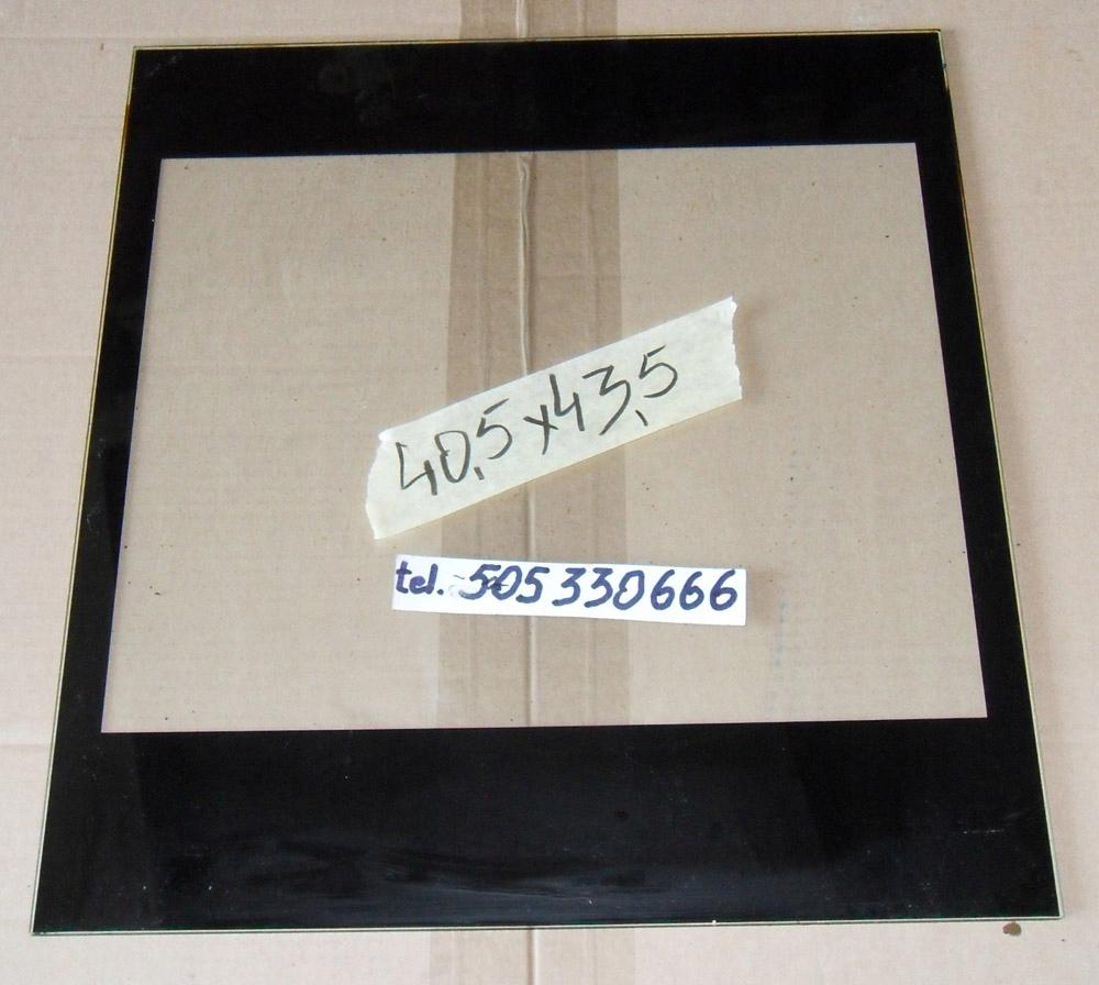 Szyba drzwi kuchenki Amica 40,5x43,5 G5E.