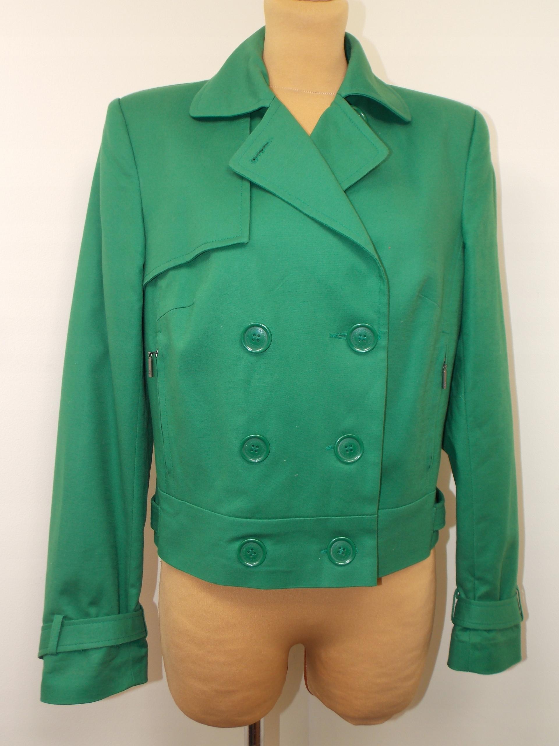 kurtka styl ASOS ZARA zielona elegancka biuro 40