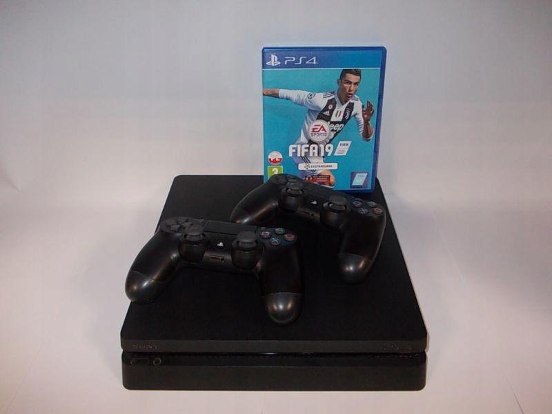 PS4 SLIM 1TB + 2X PAD + FIFA19 ! OKAZJA !