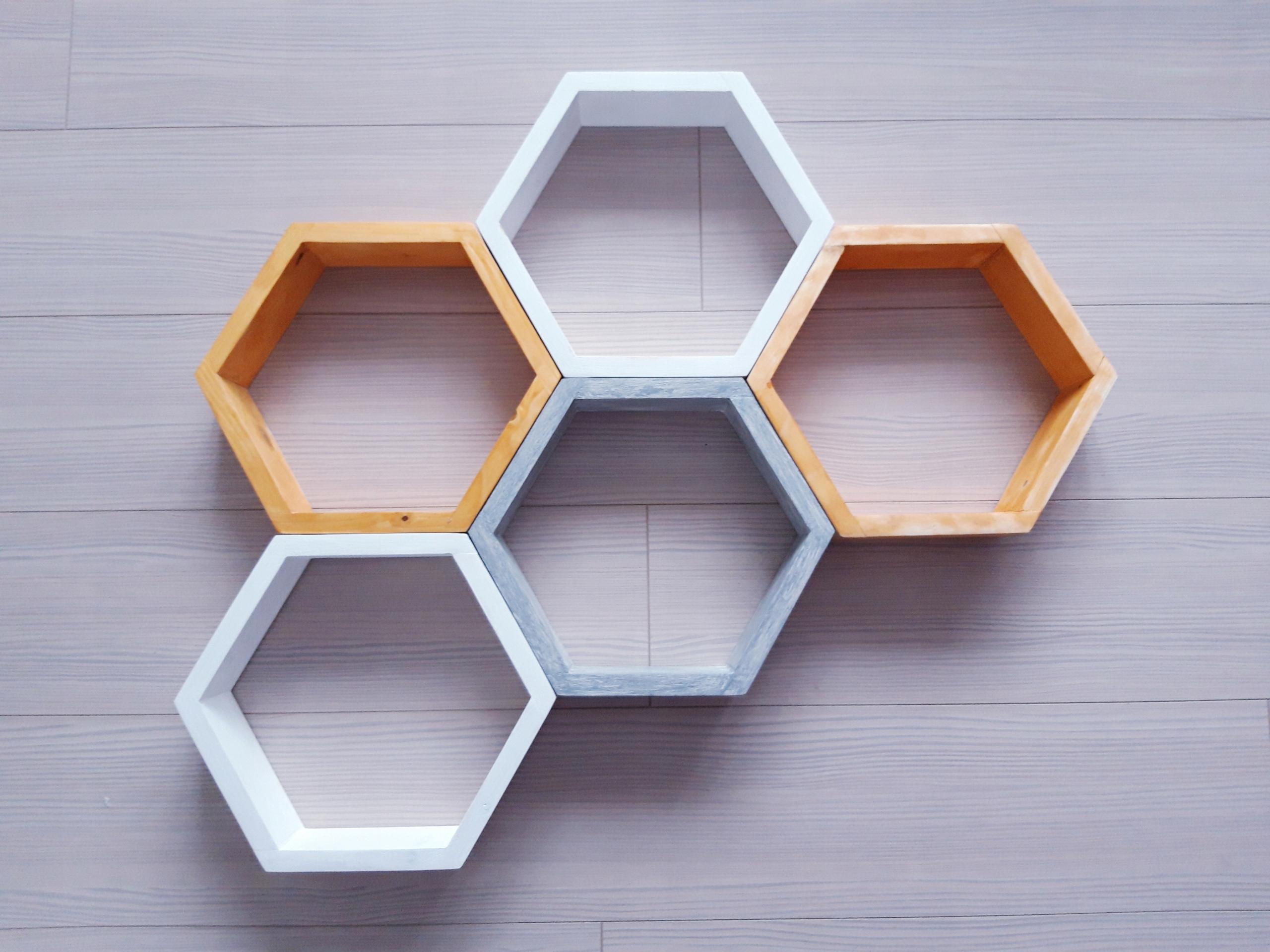 Półki Hexagon Sześciokątne Zestaw 7 Szt Producent