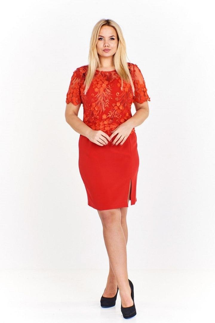 48c461238a6045 Elegancka sukienka z wyszywaną górą w kwiatowy wzó - 7707236523 ...