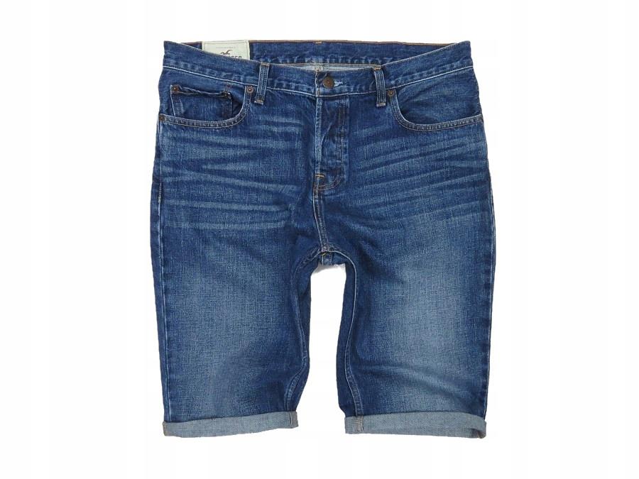 HOLLISTER krótkie spodenki jeansowe męskie 91