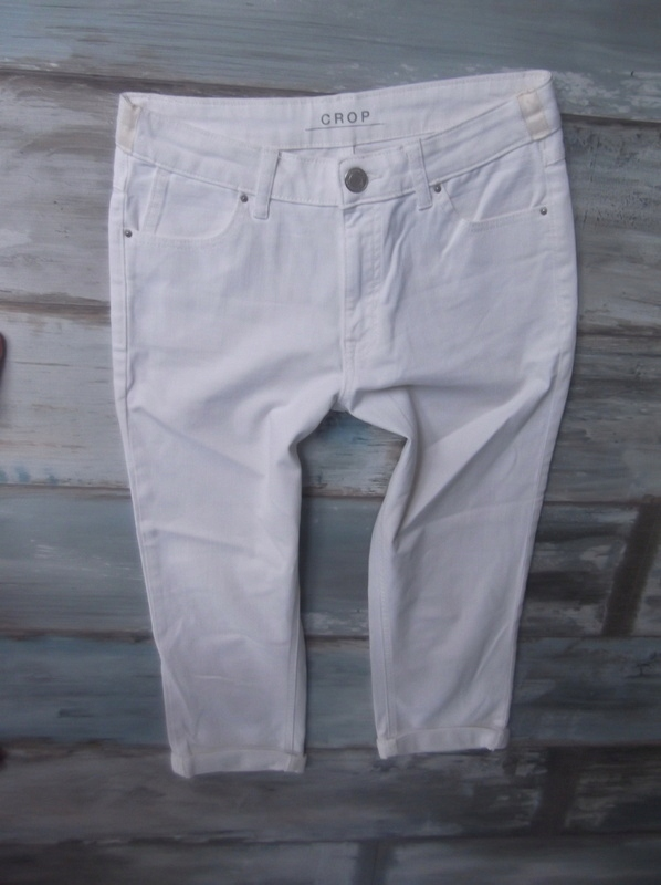 MARKS SPENCER__spodenki szorty jeans CROP___36