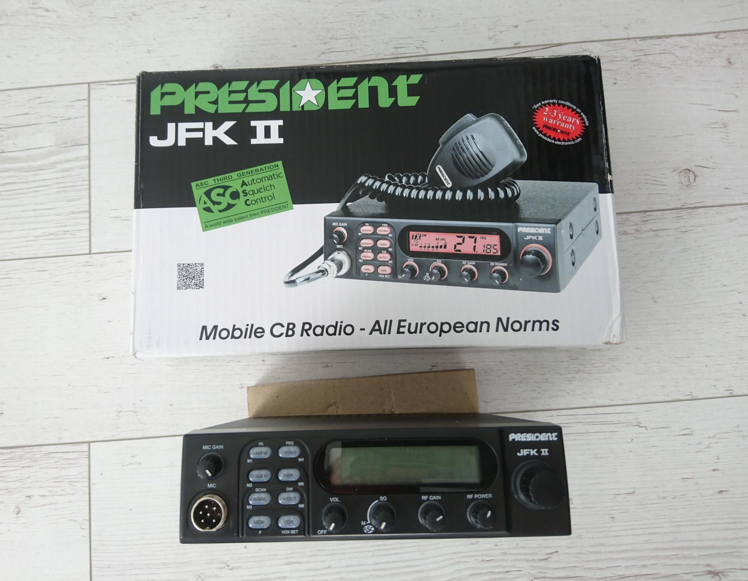 CB Radio President JFK II + antena SIRIO ML 145