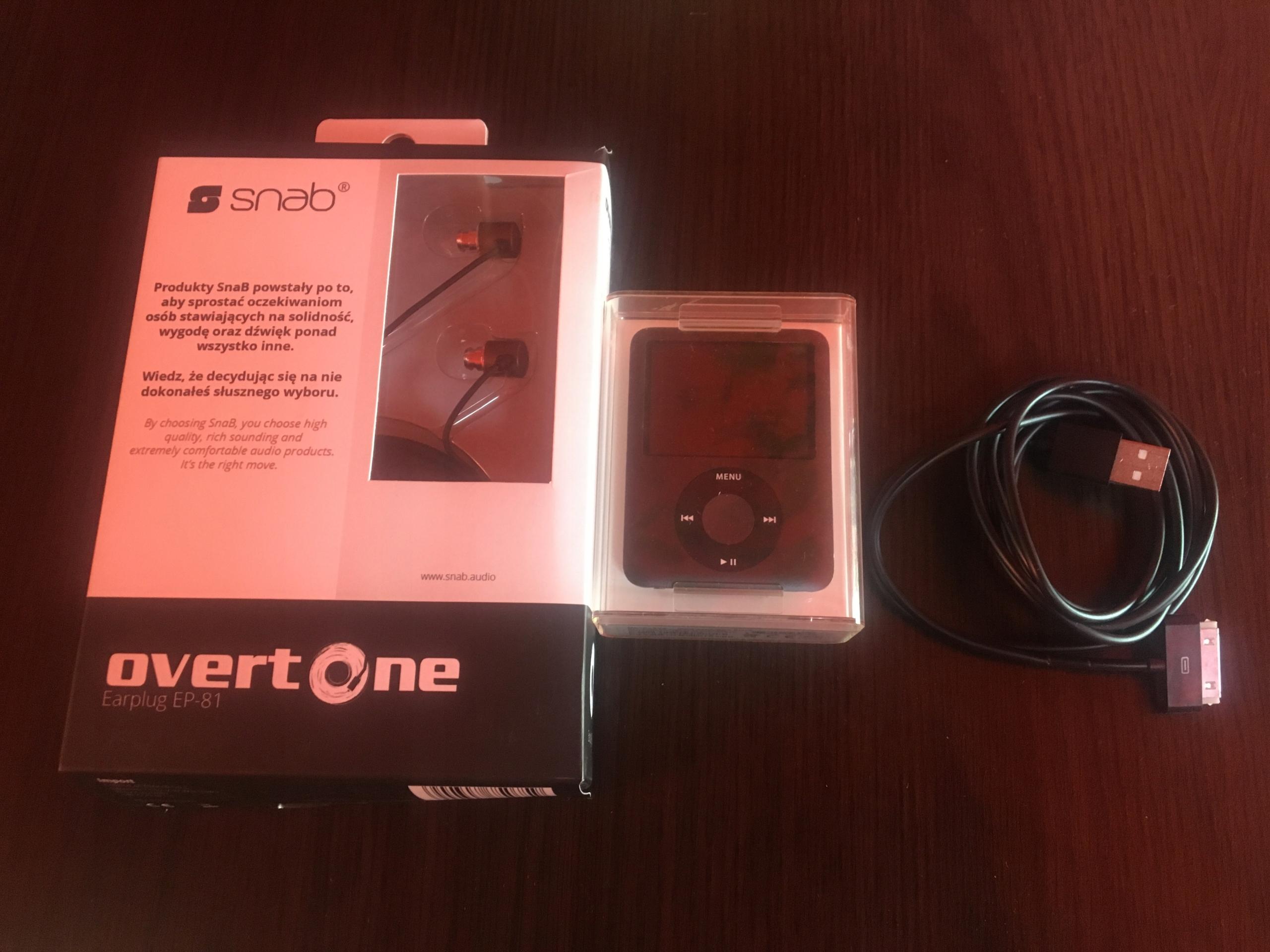 iPod nano 3g 8gb + słuchawki Snab overtone ep -81