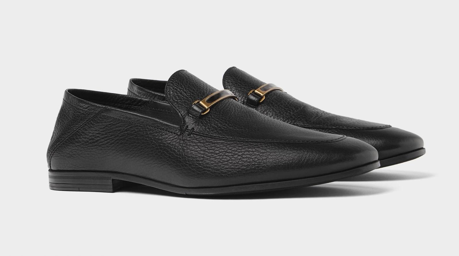 ZARA męskie buty mokasyny skórzane soft licowa 45