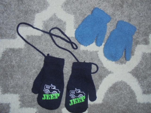 2 pary rękawiczek dla chłopca 1-2 lata
