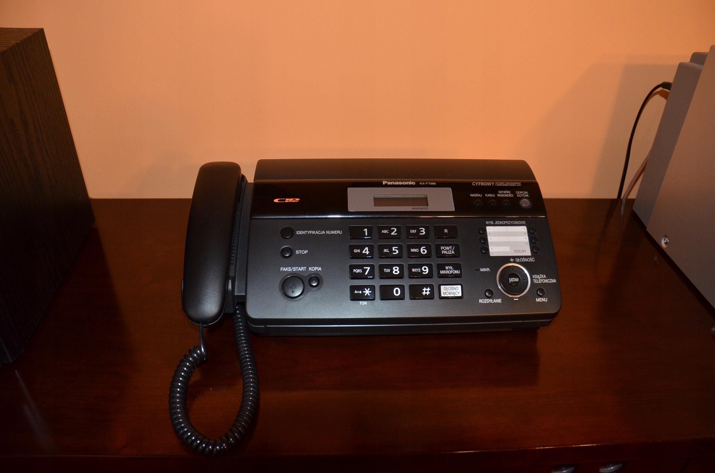 Telefax Panasonic KX-FT986 jak nowy