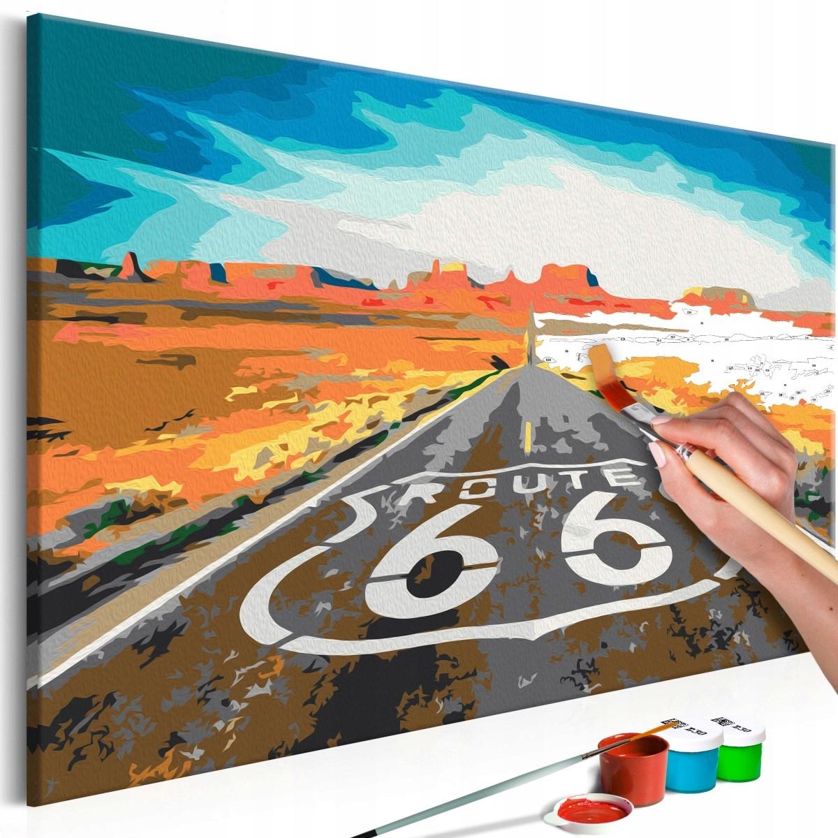 Obraz do samodzielnego malowania - Route 66 (Rozmi