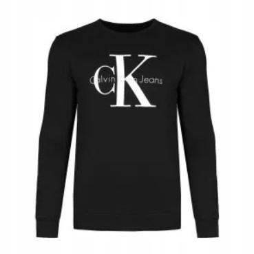Calvin Klein Bluza Męska Czarna Logo Sportowa XL