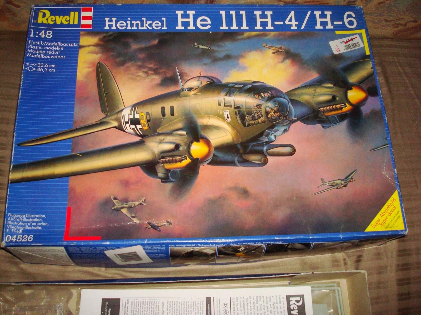 REVELL 1/48 04526 HEINKEL HE 111H-4/H-6 konwersja