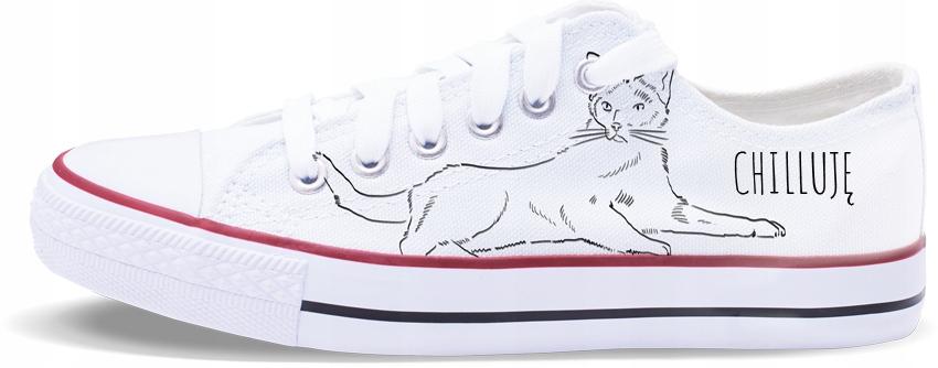 Trampki ilustrowane - Koty