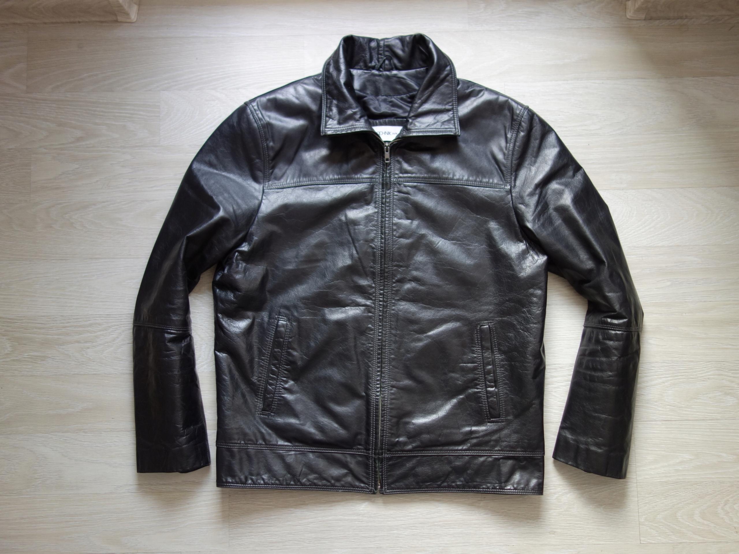OCHNIK Pure Klasyczna kurtka męka skórzana M L