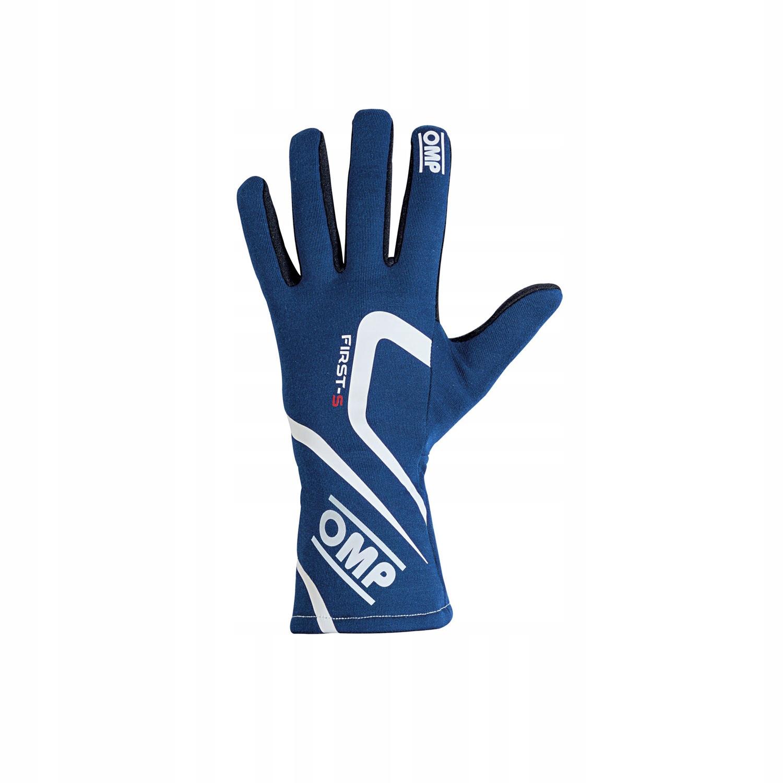 Rękawice rajdowe OMP FIRST-S MY18 blue FIA M!